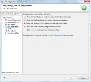 Eclipse - Run Configurations