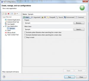 Eclipse - Run Configurations - Java Application
