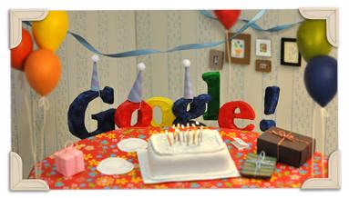 Doodle - 13 aniversario de Google