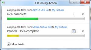 Windows 8 - Transferencia de archivos