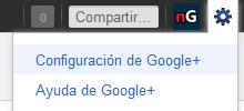 Configuración de Google+