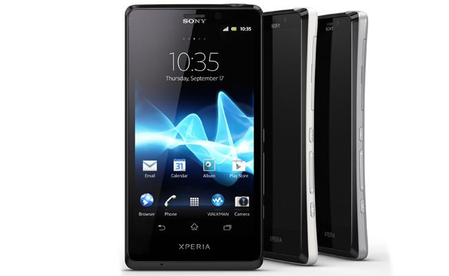 Sony presenta tres nuevos teléfonos: xperia t, xperia v y xperia j
