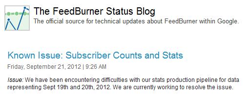 FeedBurner Issue