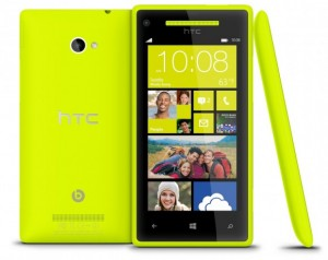HTC 8X - Limelight Yellow