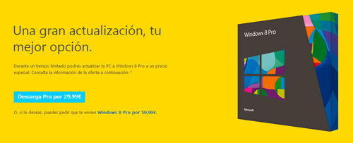 Comprar Windows 8 Pro