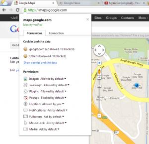 Google Chrome - Permisos