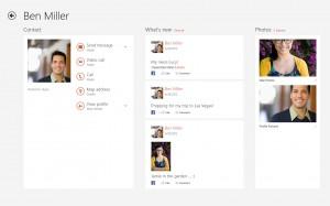 Skype para Windows 8 - Contactos