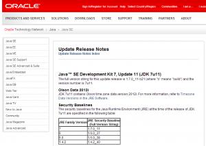 Java SE 7u11