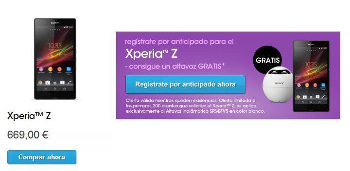 Sony revela el precio final del nuevo modelo Sony Xperia Z en España