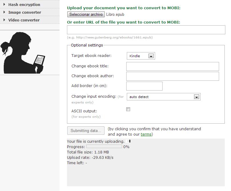convertir formato pdf a mobi