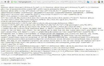 Codigo fuente en Gmail.
