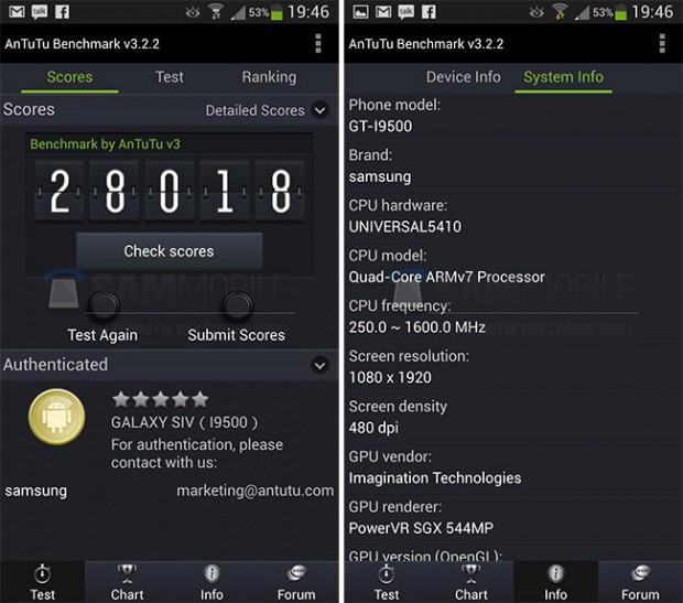 Samsung Galaxy S4 - Exynos 5 Octa - AnTuTu
