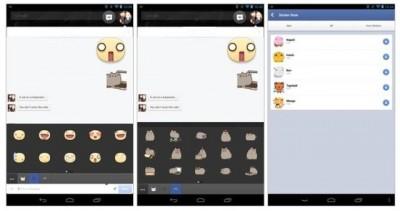 Captura de pantalla de los nuevos stickers de facebook
