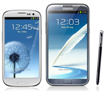 Samsung Galaxy S4 vs Samsung Galaxy Note 2