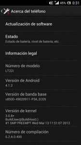 Sony Xperia P - Jelly Bean
