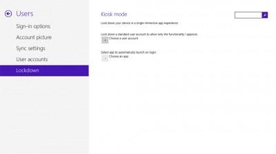 Windows 8.1 Kiosk mode