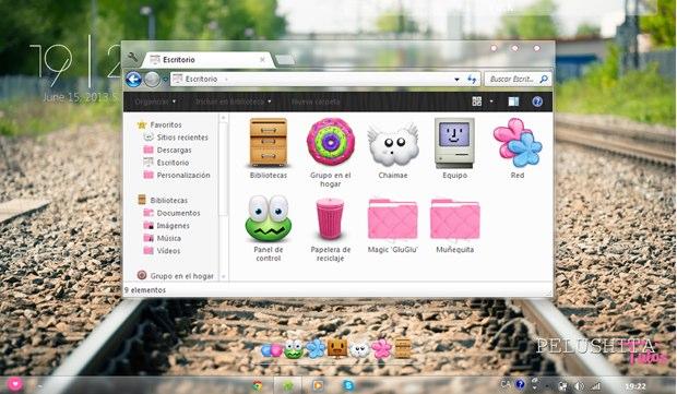5 temas gratuitos de color rosa para Windows 7