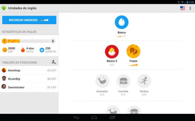 Duolingo-para-Android-tablet