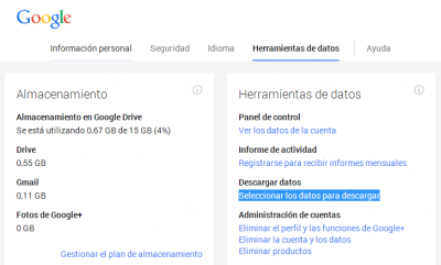 Herramientas de datos Google
