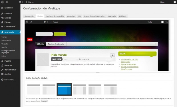Mystique 3.3.2 para WordPress 3.8