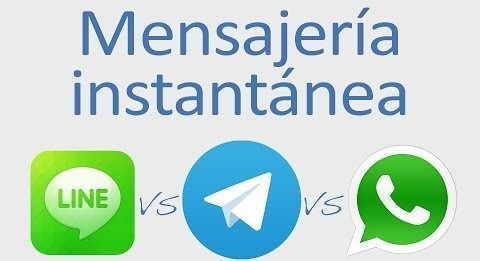 Line, Whatsapp y Telegram