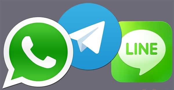 Whatsapp, Telegram y Line