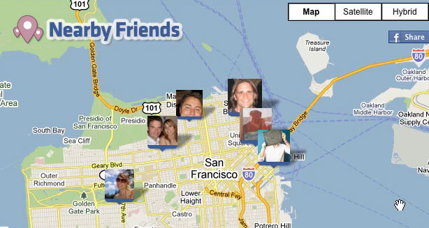 Nearby-facebook
