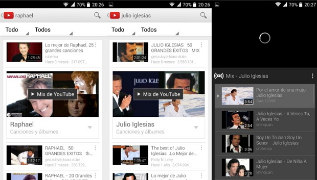 Youtube-mix-android