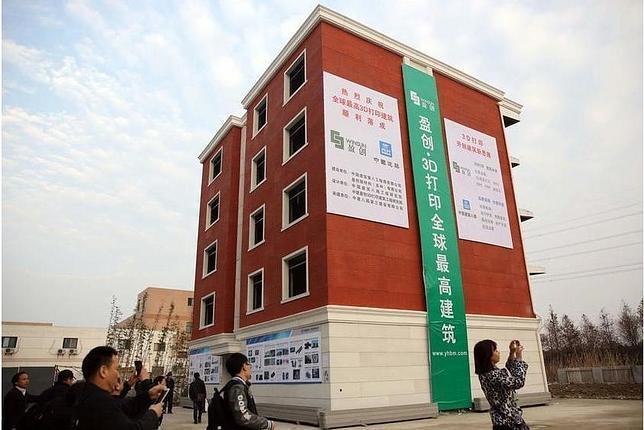 Se construye un edificio de cinco pisos con una impresora 3D en China