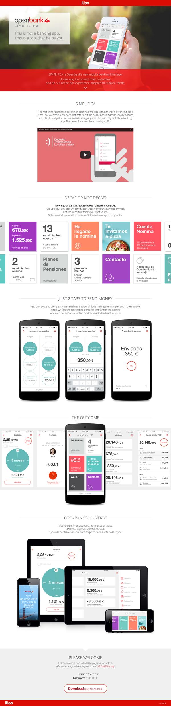 Infografia App Openbank Illios