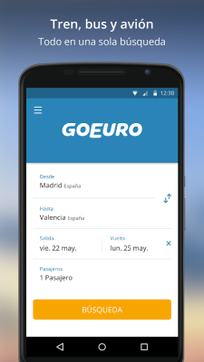 GoEuro App Android 1