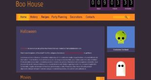 Plantilla HTML5 Gratis Halloween