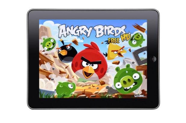 iPad Angry Birds