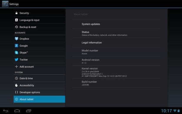 como actualizar android en una tablet