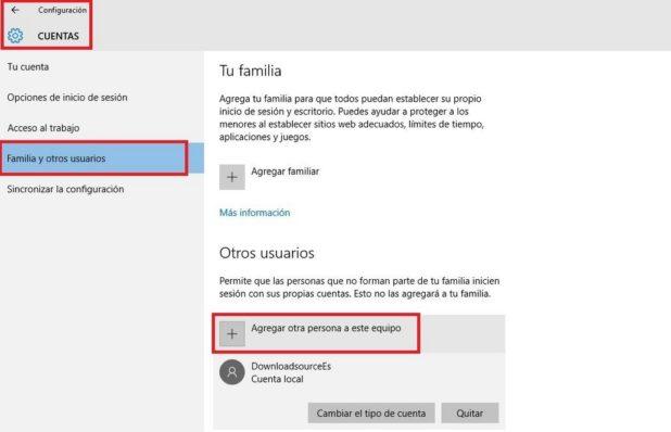 como crear cuentas de usuario en windows 10