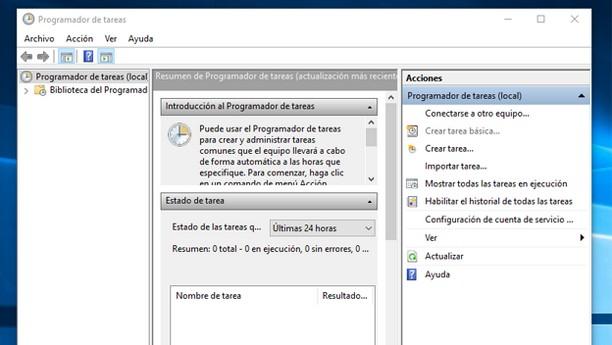 programar el apagado automatico en windows 10