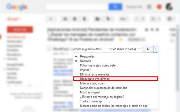 bloquear cuentas de correo electronico gmail