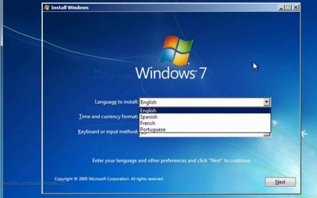 instalar windows 7 desde un usb