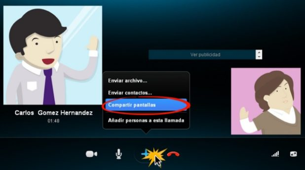 compartir pantalla en skype tutorial